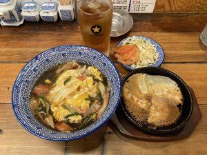 餃子の山崎天津飯定食