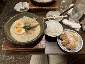 炊き餃子川添唐揚げ定食