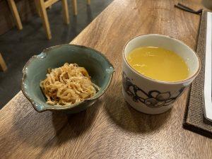 鯛炊き蕎麦とおかずきしお酒