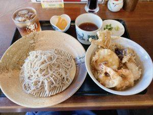 細巻きと蕎麦あおの天丼定食